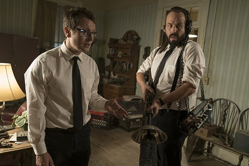 Angus Sampson and Leigh Whannell in Insidious: The Last Key. Photo by Justin Lubin, courtesy Universal Pictures 2017.