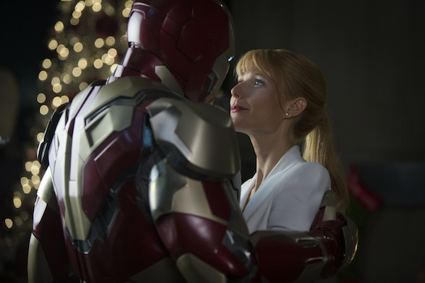 Tony Stark and Pepper Potts in Iron Man 3