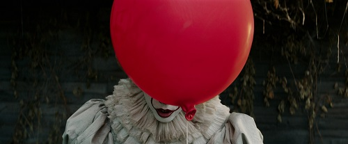 BILL SKARSGÅRD as Pennywise in New Line Cinema's horror thriller IT, a Warner Bros. Pictures release. Photo courtesy Warner Bros. Pictures, © 2017 WARNER BROS. ENTERTAINMENT INC. AND RATPAC-DUNE ENTERTAINMENT LLC.  ALL RIGHTS RESERVED.