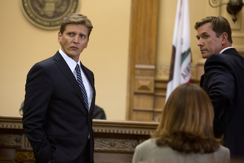 Russell Dodson (Barry Pepper) and DEA Agent Jones (Clay Kraski) go to court in KILL THE MESSENGER, a Focus Features release. Credit: Chuck Zlotnick / Focus Features.