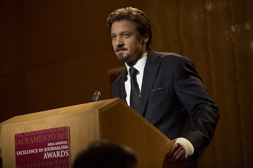 Jeremy Renner stars as Pulitzer Prize-winning journalist Gary Webb in KILL THE MESSENGER, a Focus Features release.Credit: Chuck Zlotnick / Focus Features