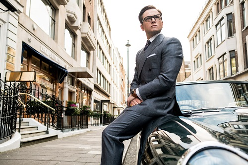 Taron Egerton stars in Twentieth Century Fox's Kingsman: The Golden Circle, also starring Colin Firth, Julianne Moore, Channing Tatum, Mark Strong, Elton John, Halle Berry and Jeff Bridges. Photo Credit: Giles Keyte, 2017 Twentieth Century Fox Film Corporation. All Rights Reserved.