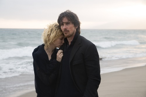 (l to r) Cate Blanchett stars as 'Nancy' and Christian Bale as 'Rick' in Terrence Malick's drama KNIGHT OF CUPS, a Broad Green Pictures release.