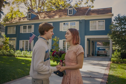 Lucas Hedges and Saoirse Ronan in Lady Bird, photo by Merie Wallace, courtesy A24.