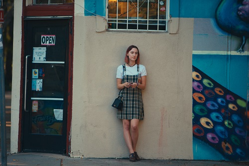Saoirse Ronan in Lady Bird, photo by Merie Wallace, courtesy A24.