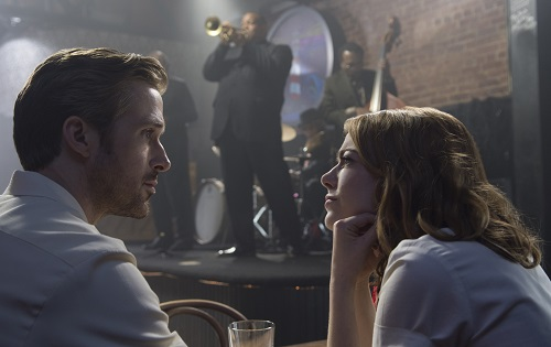 Sebastian (Ryan Gosling) and Mia (Emma Stone) in LA LA LAND, Photo by Dale Robinette courtesy Lionsgate, 2016 All rights reserved.