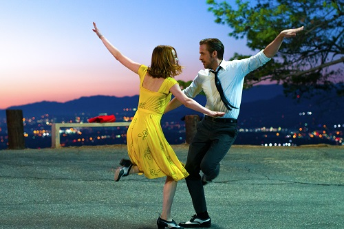 Mia (Emma Stone) and Sebastian (Ryan Gosling) in LA LA LAND, Photo by Dale Robinette courtesy Lionsgate, 2016 All rights reserved.