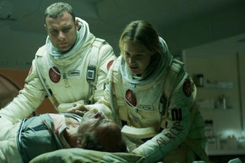 Liev Schreiber, Romola Garai and Elias Koteas in The Last Days On Mars. 2013 Magnet Releasing.