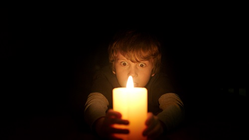 GABRIEL BATEMAN as Martin in New Line Cinema's horror film LIGHTS OUT, a Warner Bros. Pictures release. Photo courtesy of Warner Bros. Pictures.