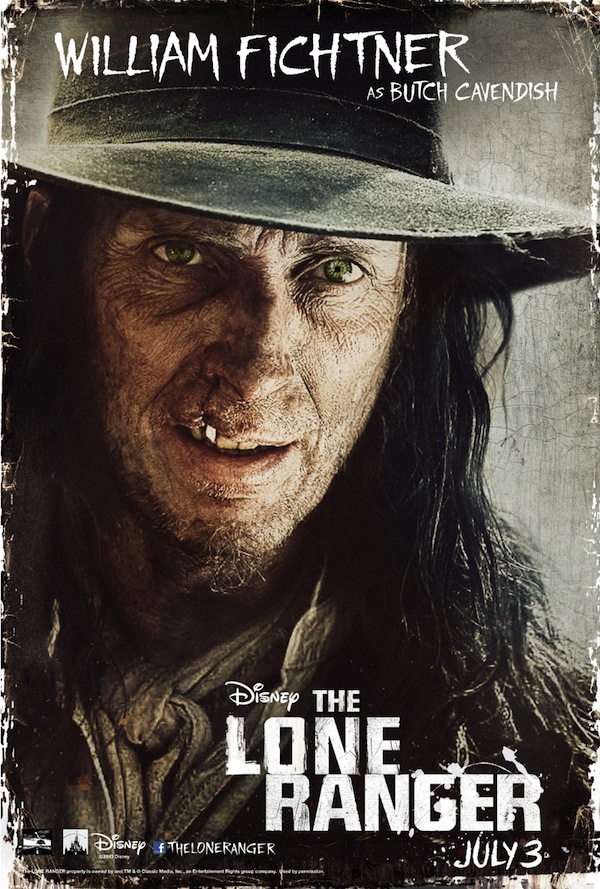 The Lone Ranger Character Poster, William Fichtner
