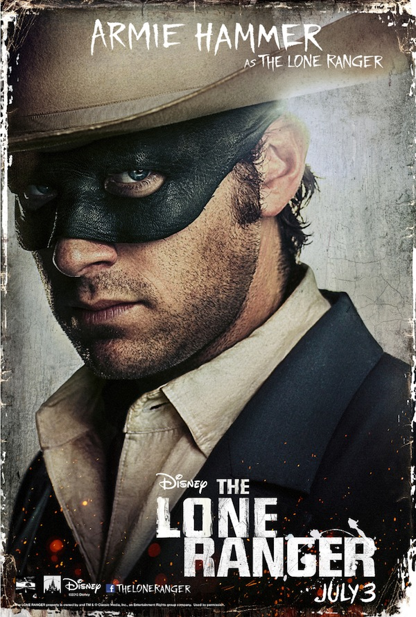 The Lone Ranger Character Poster, Armie Hammer