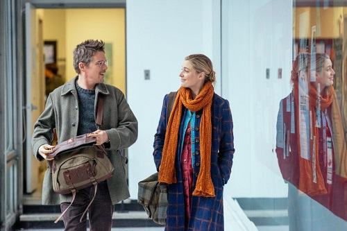 Ethan Hawke and Greta Gerwig in Maggie's Plan.  Photo courtesy Sony Pictures Classics.