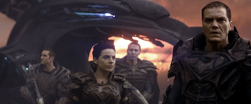 ANTJE TRAUE (center) as Faora-Ul and MICHAEL SHANNON (far right) as General Zod in Warner Bros. Pictures' and Legendary Pictures' action adventure MAN OF STEEL, a Warner Bros. Pictures release. TM and © DC Comics. Photo courtesy of Warner Bros. Pictures