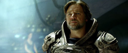 RUSSELL CROWE as Jor-El in Warner Bros. Pictures' and Legendary Pictures' action adventure MAN OF STEEL, a Warner Bros. Pictures release. TM and © DC Comics. Photo courtesy of Warner Bros. Pictures
