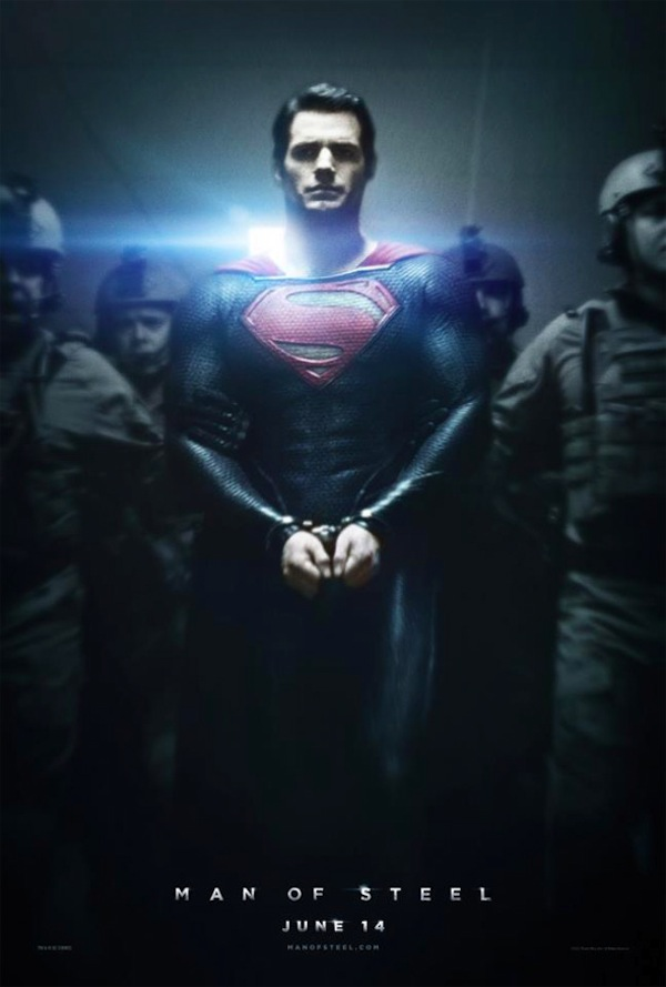Henry Cavill as Superman in Zack Snyder's Man of Steel Poster