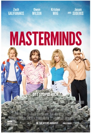 'Masterminds' Poster