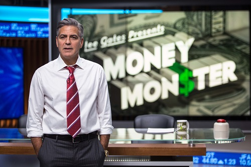 George Clooney stars as Lee Gates in TriStar Pictures' MONEY MONSTER. Courtesy of Sony Entertainment.