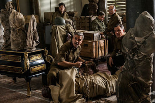 Sam Epstein, George Clooney, John Goodman, Bob Balaban and Matt Damon in The Monuments Men. 2013 Claudette Barius / Lionsgate Films.