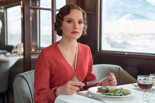Daisy Ridley stars in Twentieth Century Fox's Murder on the Orient Express. Photo by Nicola Dove.