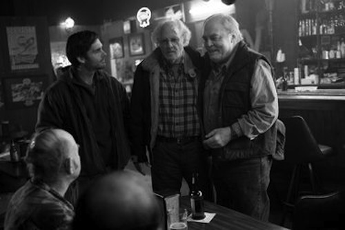Bruce Dern, Stacy Keach and Will Forte in Nebraska. 2013 Paramount Pictures.