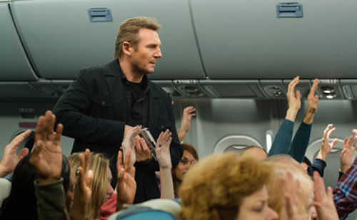 Liam Neeson in Non-Stop. 2014 Universal Pictures.