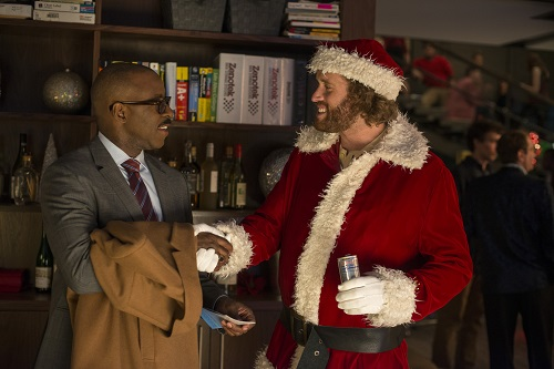 (L-R) Courtney B. Vance as Walter and T.J. Miller as Clay Vanstone in OFFICE CHRISTMAS PARTY by Paramount Pictures, DreamWorks Pictures, and Reliance Entertainment. Photo Credit: Glen Wilson © 2016 PARAMOUNT PICTURES. ALL RIGHTS RESERVED.