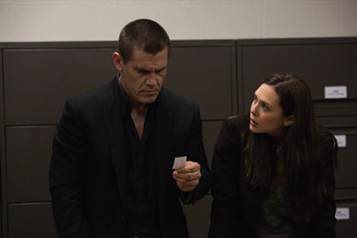 Josh Brolin and Elizabeth Olsen in Oldboy. 2013 Hilary Bronwyn Gayle / FilmDistrict.