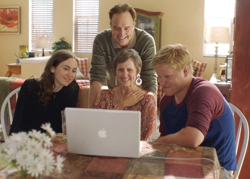 Jesse Plemons, Molly Shannon, Bradley Whitford, and Maude Apatow in Other People. Photo courtesy Vertical Entertainment/Netflix.