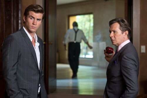Liam Hemsworth and Gary Oldman star in Relativity Media's Paranoia. Photo Credit: Peter Iovino. 2013 Paranoia Productions, LLC. All Rights Reserved.