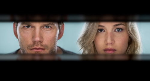 Chris Pratt and Jennifer Lawrence star in Columbia Pictures' PASSENGERS. 2016 Columbia Pictures Industries, Inc. All Rights Reserved. Image Property of Sony Pictures Entertainment.