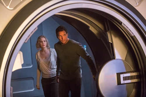 Jennifer Lawrence and Chris Pratt star in Columbia Pictures' PASSENGERS. 2016 Columbia Pictures Industries, Inc. All Rights Reserved. Image Property of Sony Pictures Entertainment.
