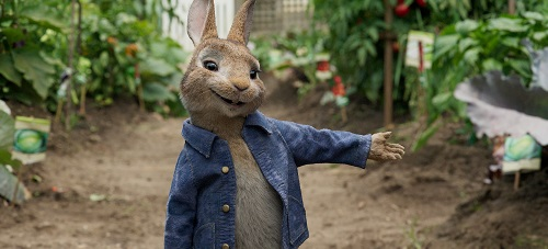Peter Rabbit (James Corden) in Columbia Pictures' PETER RABBIT. Courtesy of Sony Pictures - © 2018 CTMG, Inc. All Rights Reserved.