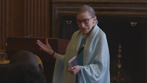 Justice Ginsburg in RBG, a Magnolia Pictures release. Photo courtesy of Magnolia Pictures.