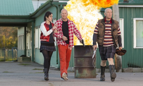 (L-R) MARY-LOUISE PARKER, BRUCE WILLIS and JOHN MALKOVICH star in RED 2. Photo: Jan Thijs © 2013 Summit Entertainment, LLC. All rights reserved.