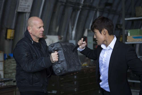 BRUCE WILLIS, BYUNG HUN LEE star in RED 2. Photo: Frank Masi, SMPSP. 2013 Summit Entertainment, LLC. All rights reserved.