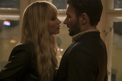 Jennifer Lawrence and Joel Edgerton in Twentieth Century Fox's RED SPARROW. Photo Credit: Murray Close; TM & © 2018 Twentieth Century Fox Film Corporation. All Rights Reserved.