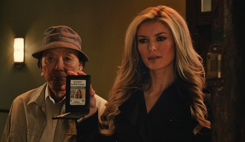 Nick's Avatar (JAMES HONG) and Roy's Avatar (MARISA MILLER) in the 3D supernatural action-adventure R.I.P.D. In the film, Jeff Bridges and Ryan Reynolds play Roy and Nick, two cops dispatched by the otherworldly Rest In Peace Department to protect and serve the living from an increasingly destructive array of creatures who refuse to move peacefully into the afterlife. Photo Credit: Universal Pictures. Copyright: © 2013 Universal Studios. ALL RIGHTS RESERVED.