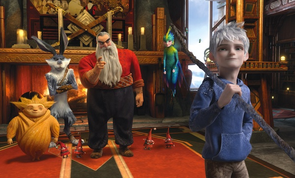 Santa Klaus, Sandman, The Easter Bunny, The Tooth Fairy and Jack Frost in Rise of the Guardians