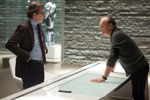 Gary Oldman and Michael Keaton in RoboCop. 2013 Kerry Hayes / Sony Pictures.