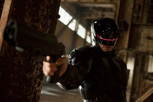 Joel Kinnaman in RoboCop. 2013 Kerry Hayes / Sony Pictures.