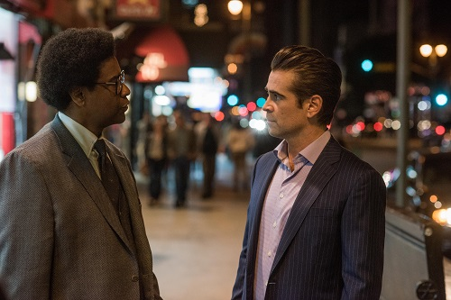 Denzel Washington and Colin Farrell star in ROMAN J. ISRAEL, ESQ., Photo by: Glen Wilson - © 2017 CTMG, Inc. All Rights Reserved.