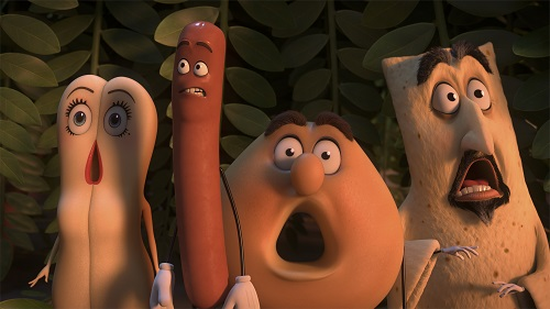 Brenda (Kristen Wiig), Frank (Seth Rogen), Sammy (Ed Norton) in Columbia Pictures' SAUSAGE PARTY. Courtesy of Sony Pictures Entertainment Inc. All Rights Reserved.