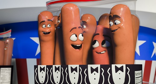 Carl (Jonah Hill), Barry (Michael Cera) and Frank (Seth Rogen) in Columbia Pictures' SAUSAGE PARTY. Courtesy of Sony Pictures Entertainment Inc. All Rights Reserved.
