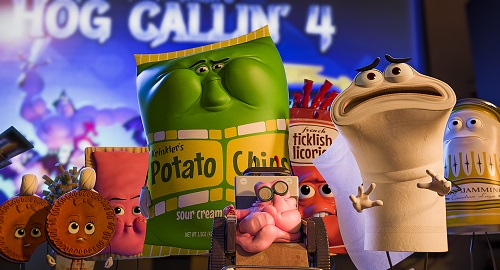 Food in Columbia Pictures' SAUSAGE PARTY. Courtesy of Sony Pictures Entertainment Inc. All Rights Reserved.
