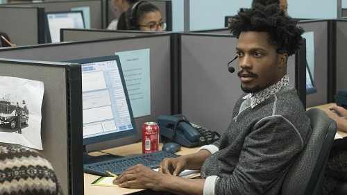 Jermaine Fowler stars as Salvador in Boots Riley's SORRY TO BOTHER YOU, an Annapurna Pictures release. Credit: Ben Fee / Annapurna Pictures.