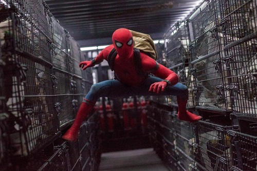 Tom Holland is Spider-Man in Columbia Pictures' SPIDER-MANT: HOMECOMING, photo courtesy Sony Pictures Entertainment.