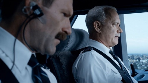 Tom Hanks and Aaron Eckhart in Sully. Photo courtesy Warner Bros.