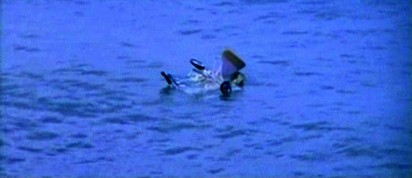 Stroller in the water from Tentacles, 1977.