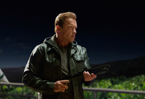 Arnold Schwarzenegger plays the Terminator in TERMINATOR GENISYS from Paramount Pictures and Skydance Productions. Photo credit: Melinda Sue Gordon. 2015 Paramount Pictures. All rights reserved.