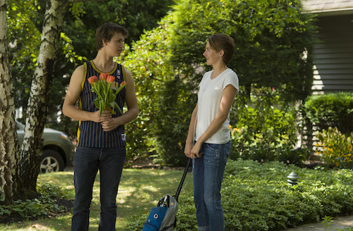Gus (Ansel Elgort) and Hezel (Shailene Woodley) are two extraordinary teenagers who share an acerbic wit, a disdain for the conventional, and a love that sweeps them - and us - on an unforgettable journey. Photo Credit: James Bridges © 2013 Twentieth Century Fox Film Corporation. All Rights Reserved. Not for Sale or Duplication.